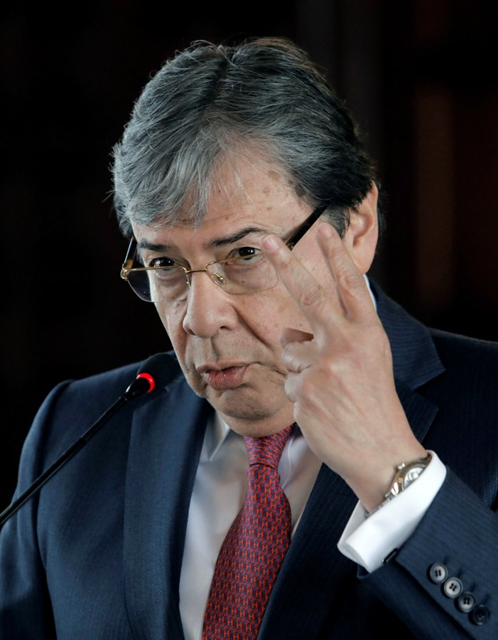 Carlos Holmes Trujillo, canciller Colombia. END/AFP.