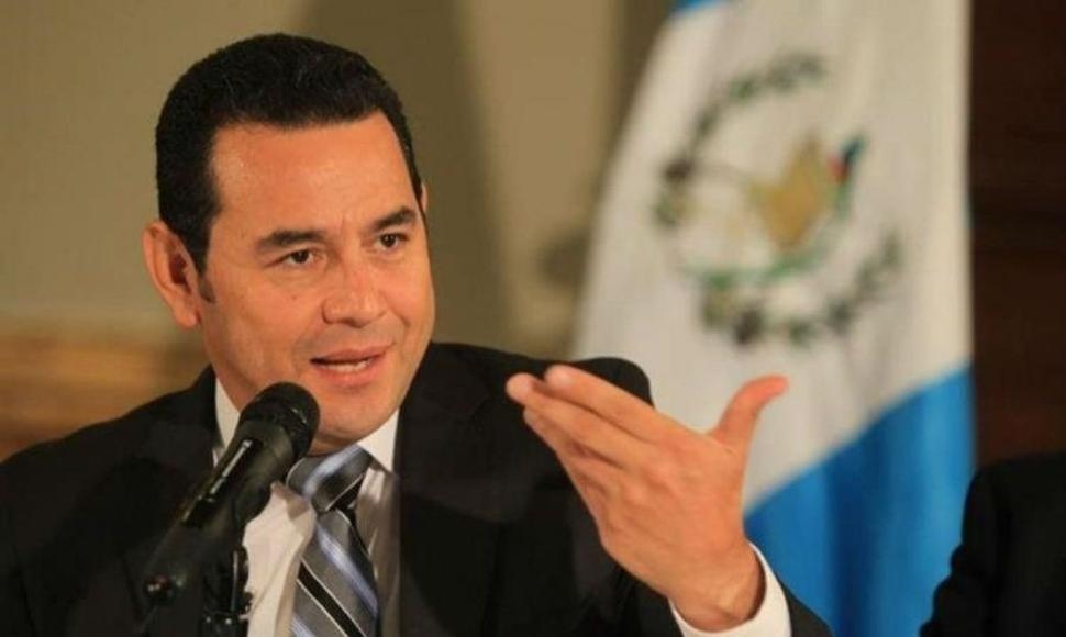 Jimmy Morales, presidente de Guatemala. END/ARCHIVO.