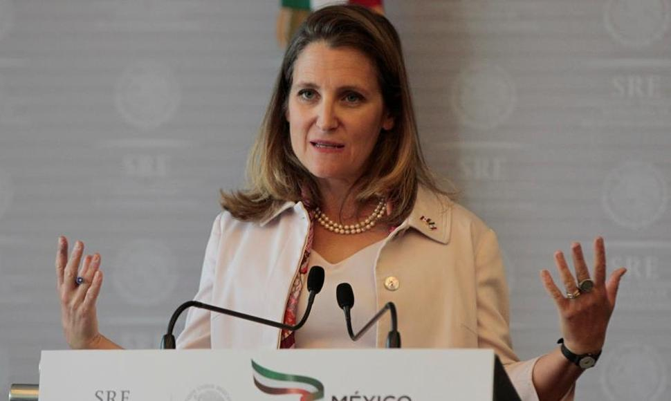 Chrystia Freeland, ministra canadiense de Exteriores . END/ARCHIVO.