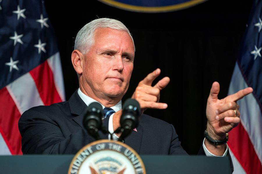 Mike Pence, vicepresidente estadounidense. Archivo/END.