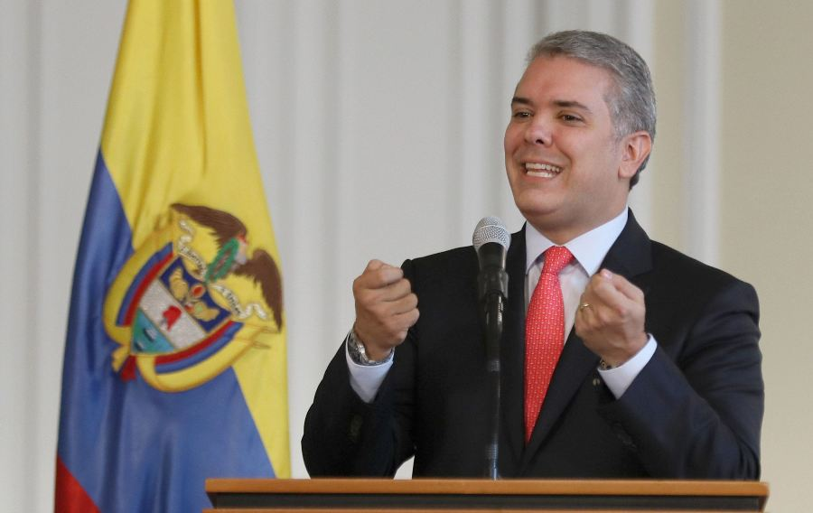 Iván Duque, presidente de Colombia. EFE/END.