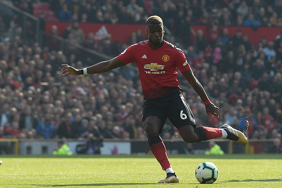 Paul Pogba, futbolista de El Manchester United. AFP/END