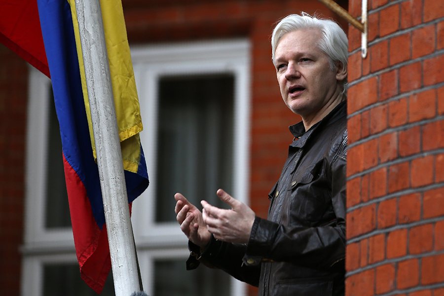 Julian Assange. AFP/END