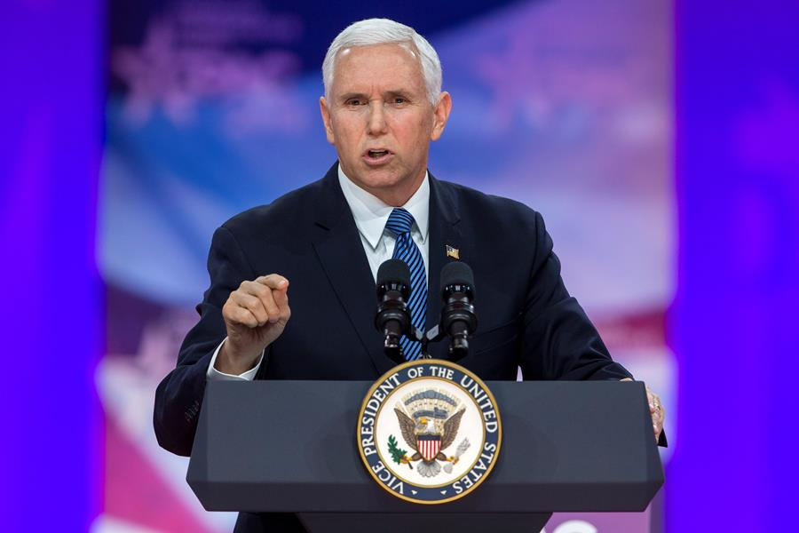 Mike Pence, vicepresidente estadounidense. EFE/END