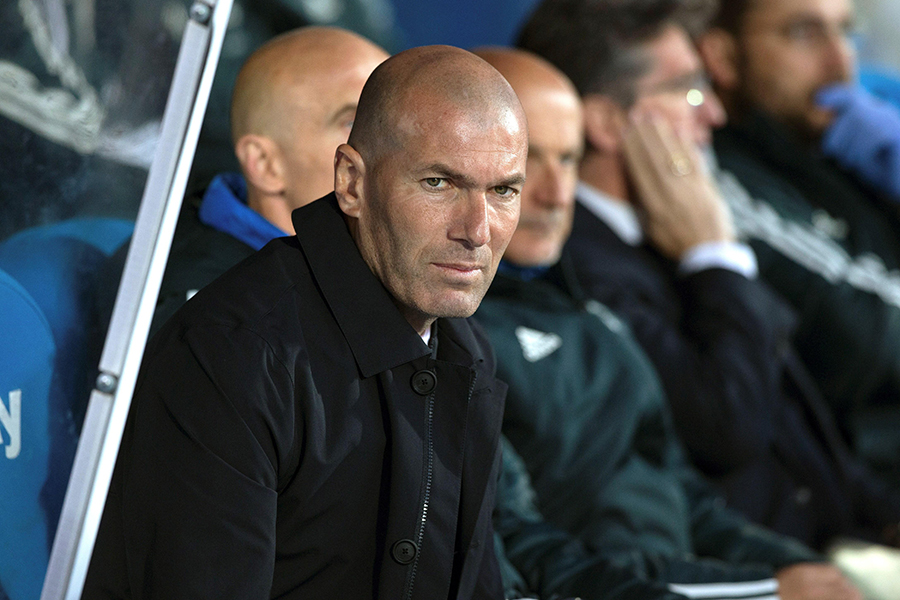 Zinedine Zidane, DT del Real Madrid.EFE/END