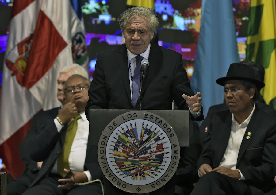 Luis Almagro, Secretario General de la OEA. AFP/END