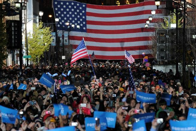 El último mitin de campaña de Obama en Des Moines, Iowa.  FOTOS: END/ AFP Y GETTY