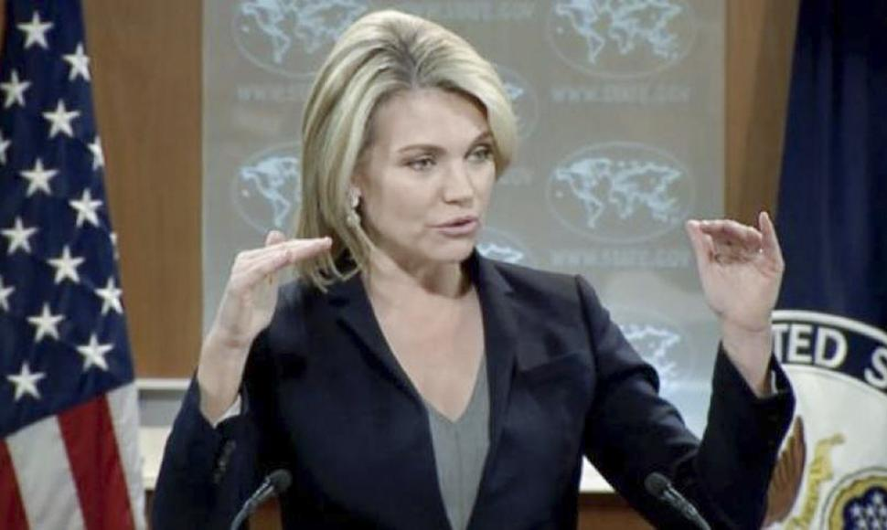 Heather Nauert, portavoz del departamento de estado.
