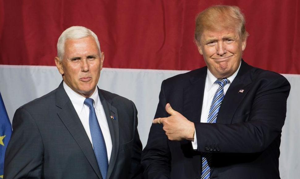 Mike Pence y Donald Trump.