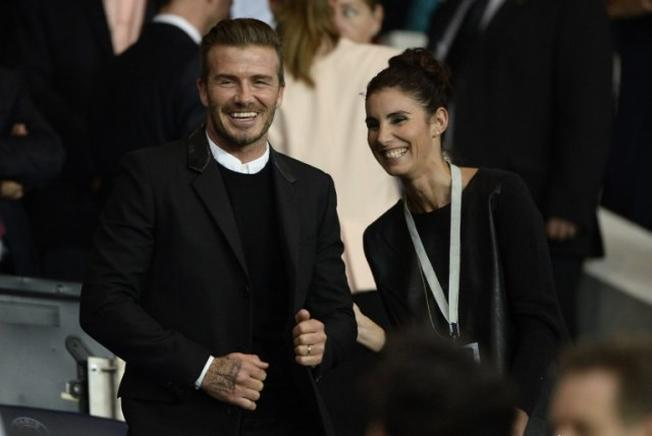 David Beckham asistió al partido el Paris Saint-Germain (PSG) y Barcelona. AFP / END