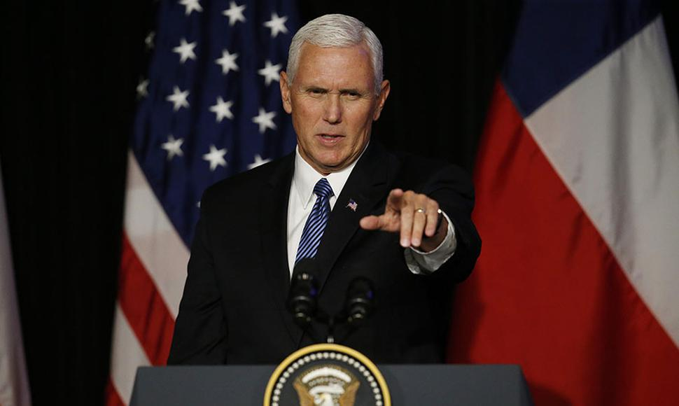 El vicepresidente de Estados Unidos, Mike Pence.