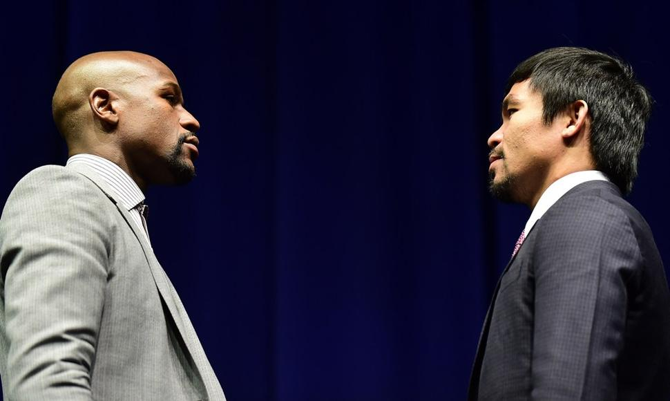 Floyd Mayweather y el filipino Manny Pacquiao. AFP / END