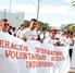 Protestan voluntarios de Cruz Roja