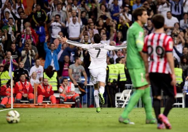 El Real Madrid destrozó 5-0 al Athletic con triplete de Cristiano Ronaldo. AFP / END