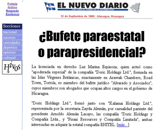 Página web END 1998