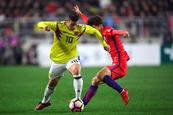 Sin James ni Zapata se jugará el partido amistoso entre Colombia y China