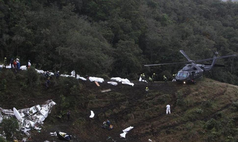 Foto del avión accidentado.