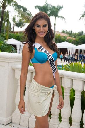 Patricia Murillo, Miss El Salvador. AFP / END