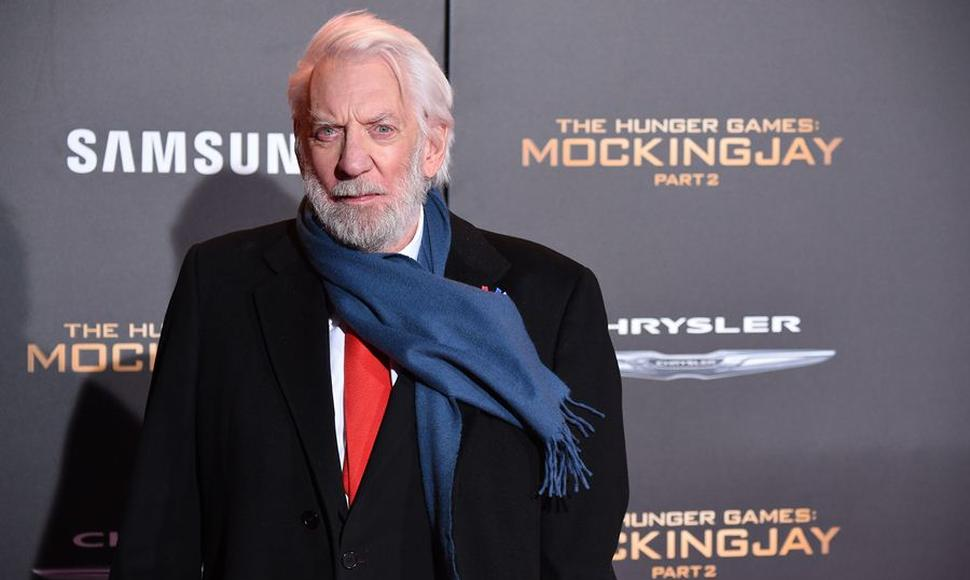 El actor canadiense Donald Sutherland.