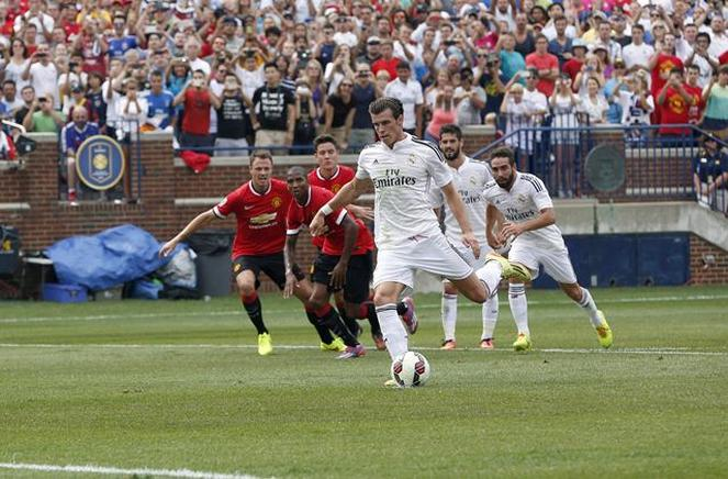 El Real Madrid perdió frente al Manchester United por 3-1 en su tercer y último partido del torneo amistoso International Champions Cup, disputado en el Michigam Stadium. EFE / END