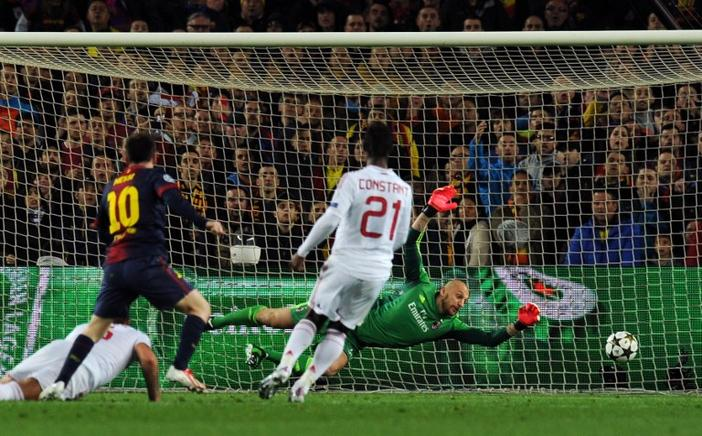 Messi anota su segundo gol. AFP / END