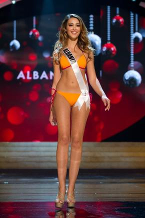 Miss Albania, Adrola Dushi. AFP / END