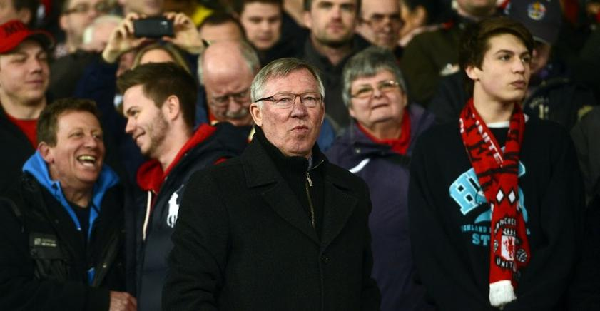 Sir Alex Ferguson durante el partido. AFP / END