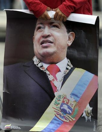 Cartel de Hugo Chávez. END / END