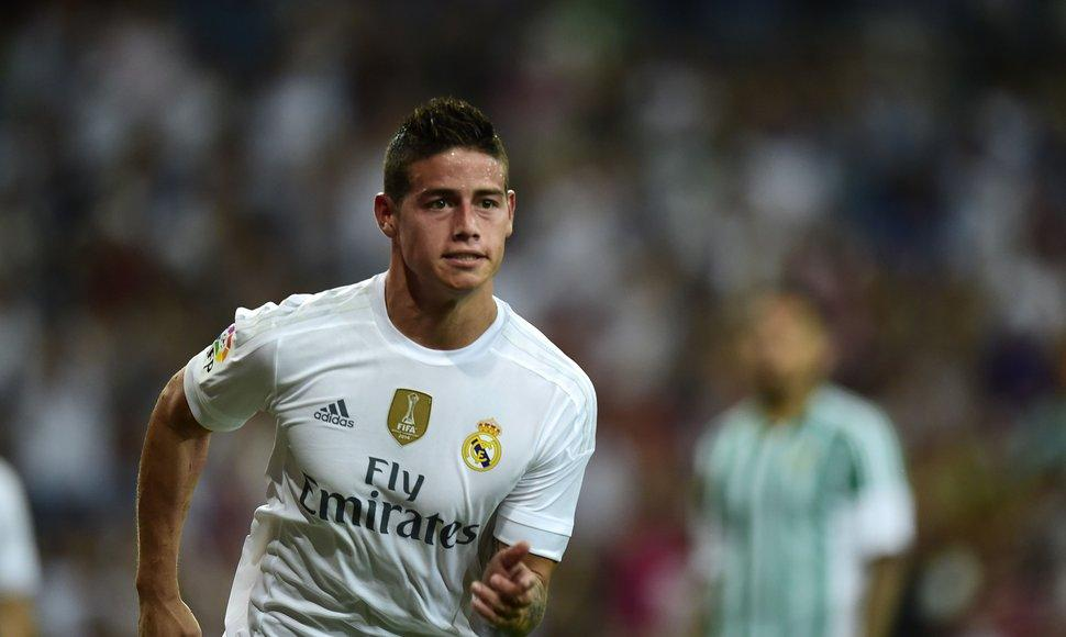 James Rodríguez, centrocampista del Real Madrid