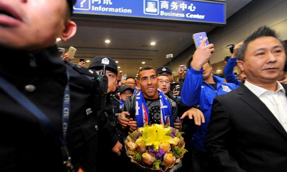 Carlos Tévez, en China.