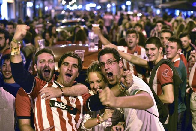 Aficionados del Athletic de Bilbao.
