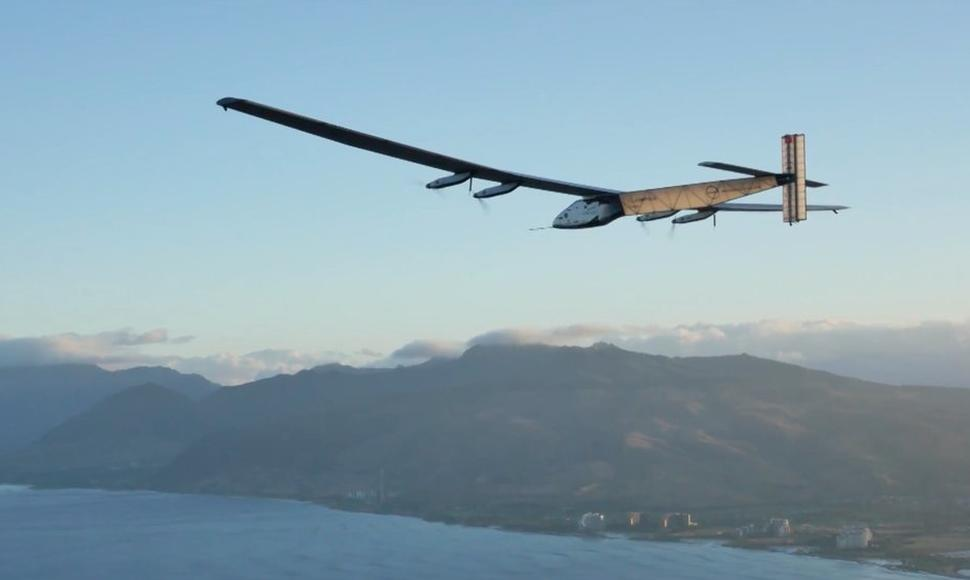 El avión Solar Impulse 2 en California.