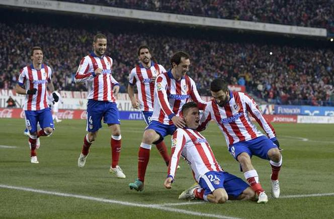Jose Gimenez celebra su gol ante el Real Madrid. AFP / END