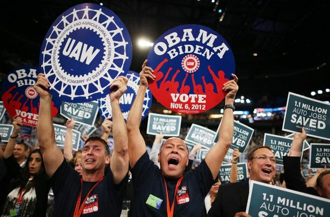 Partidarios demócratas celebran su convención en el Time Warner Cable Arena de Charlotte, Carolina del Norte (EU). END/AFP/Chip Somodevilla/Getty Images