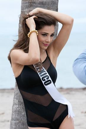 Josselyn A. Garciglia, Miss México 2014. AFP / END