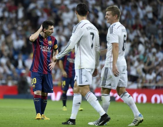 El Real Madrid se impuso por 3-1 al Barcelona. AFP / END