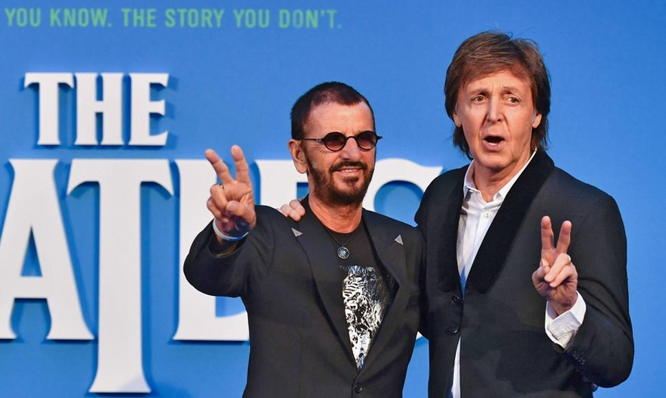 Ringo Starr y Paul McCartney.