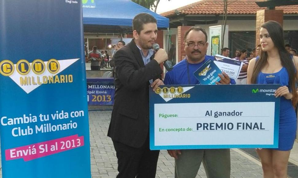 Don Marvin Valle ganó el premio mayor.