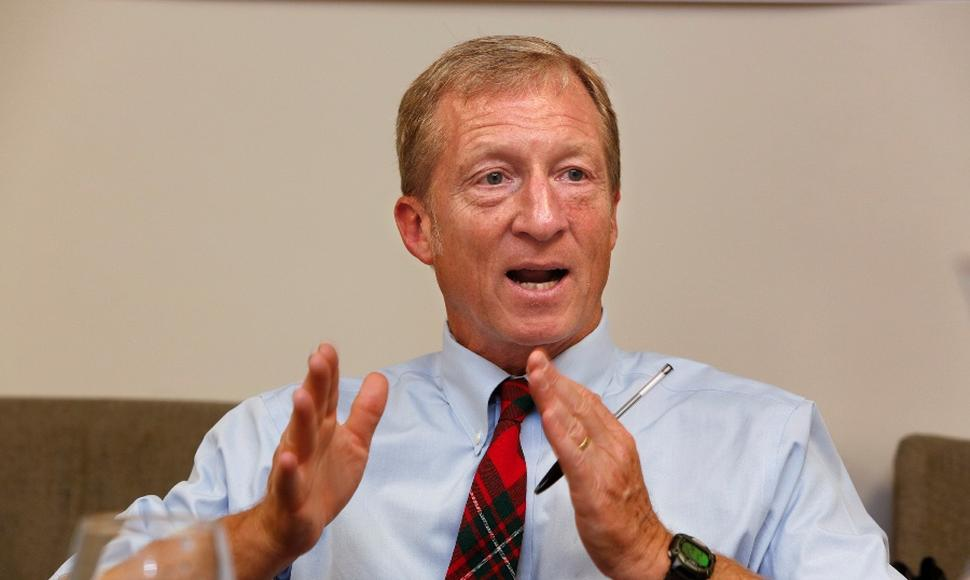 El multimillonario ecologista estadounidense, Tom Steyer