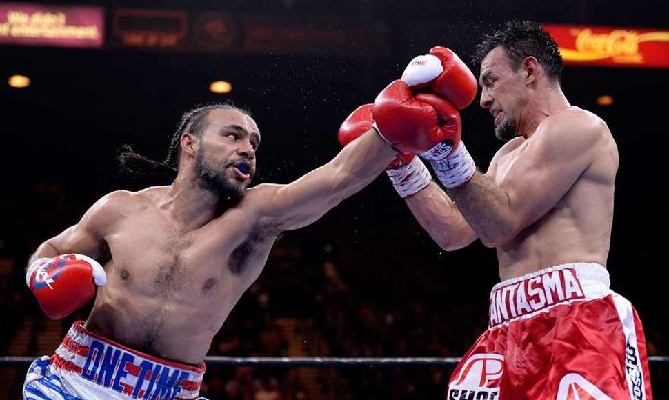 "Keith ""One Time"" Thurman en su triunfo sobre Robert Guerrero."