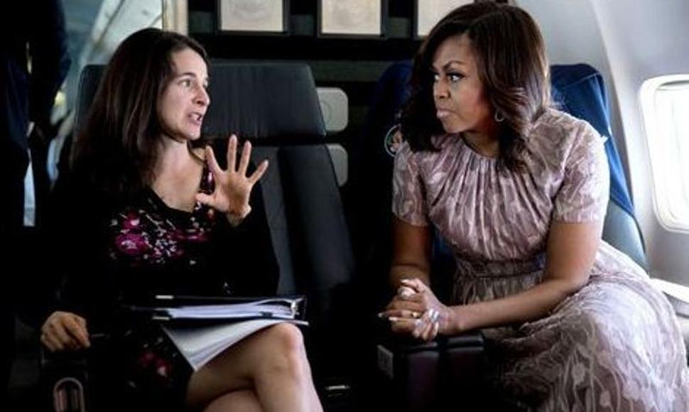 Sarah Hurwitz y Michelle Obama (Foto tomada de The Washington Post)