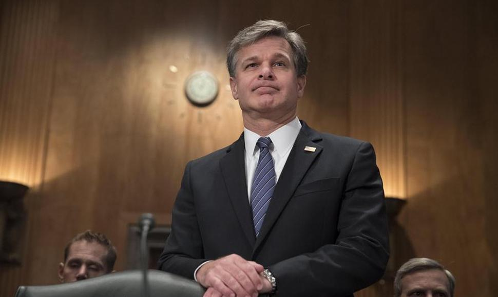 El director del Buró Federal de Investigación (FBI), Christopher Wray