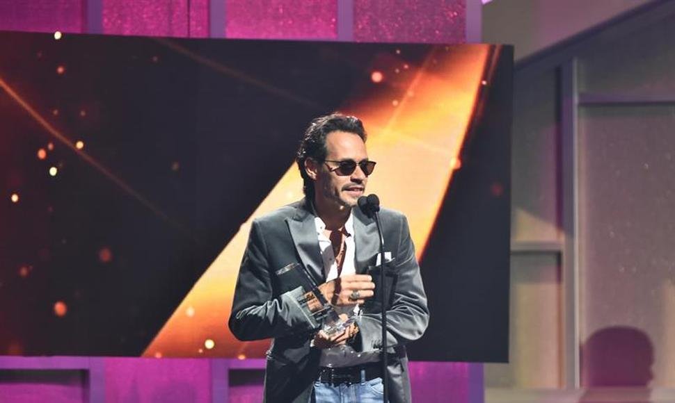 Marc Anthony en los Premios Billboard de la Música Latina.