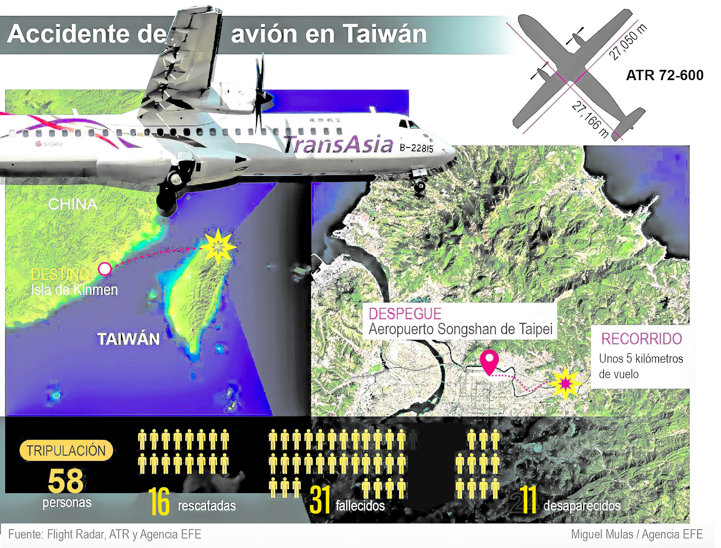 Accidente de avión en Taiwán